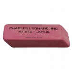 (4 Bx) Large Pink Economy Wedge Erasers 12 Per Bx