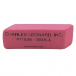 (2 Bx) Pink Economy Wedge Erasers Small 36 Per Bx