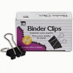(12 Bx) Binder Clips 12 Per Bx 1in Large Capacity 2in Wide