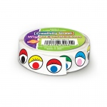 (2 Pk) Wiggle Eyes Stickers On A Roll Multi-Color