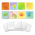 (6 Pk) Embossed Paper Leaf Collection
