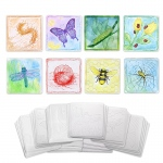 (6 Pk) Embossed Paper Insect Collection
