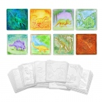 (6 Pk) Embossed Paper Dinosaur Collection