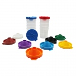 (2 Pk) No Spill Paint Cups 10 Per Pk Dual Lid Storage Cups