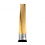 (10 Pk) Blk Bristle Easel Brush 1/4x7/8 6 Per Pk