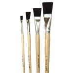 (10 St) Black Bristle Easel Brush 1/4 1/2 3/4 & 1in