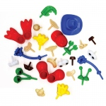 (6 Ea) Modeling Dough And Clay Body Parts Accessories