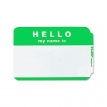 (10 Pk) C-Line Self Adhesive Green Name Badges Hello 100 Per Pk