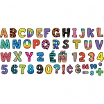 (10 Pk) Poppin Patterns Multi Designs Uc Letters Stickers
