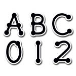 (10 Pk) Black Dot-To-Dot Uppercase Letters Stickers