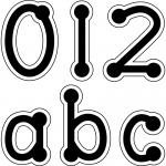(10 Pk) Black Dot-To-Dot Lowercase Letters Stickers