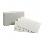 (2 Pk) Blank Index Cards 100ea 3x5 White 10 Per Pk