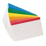 (30 Pk) Oxford Color-Coded Index Cards 3x5