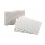 (15 Pk) Oxford Index Crds 4x6 Ruled White 100 Per Pk
