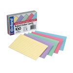 (10 Pk)assrted Ruled Commercial 100 Per Pk Index Cards 3x5