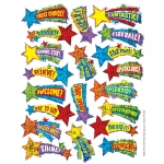 (12 Pk) Shooting Stars Sparkle Stickers