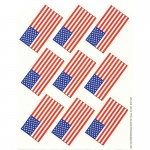 (12 Pk) Us Flags Giant Stickers