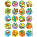 (12 Pk) Coconut Scented Stickers