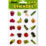 (12 Pk) Fruits And Vegetables Photo Theme Stickers