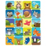 (12 Pk) Woodland Creatures Theme Stickers