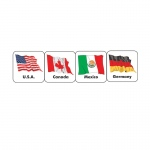 (12 Pk) Stickers World Flags