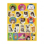 (12 Pk) Motivational Cats Theme Stickers