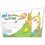 (6 Pk) Seuss Oh The Places Youll Go Recognition Awards