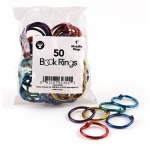 (3 Pk) Book Rings 1in 50 Per Pack