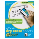 (6 Ea) Dry Erase Sheets Self Stick 8.5x11