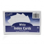 (5 Pk) White 5x8 Ruled Index Cards 100 Per Pk
