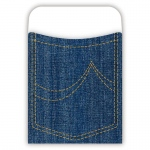 (6 Pk) Pick-A-Pocket Library Pockets Denim