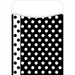 (4 Pk) Library Pockets Black & White Dots Pick A Pocket