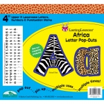 (3 Pk) Africa Letter Pop-Outs