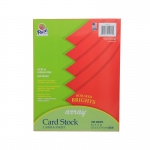 (2 Pk) Array Card Stock Brights Rojo Red 100 Sht Per Pk