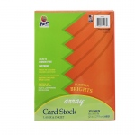 (2 Pk) Array Card Stock Brights Pumpkin 100 Sht Per Pk