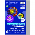 (10 Pk) Tru Ray 9x12 Gray Construction Paper 50sht Per Pk