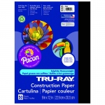 (10 Pk) Tru Ray 9x12 Black Construction Paper 50sht Per Pk
