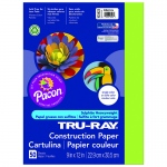 (5 Pk) Tru Ray 9x12 Brilliant Lime Construction Paper 50sht Per Pk