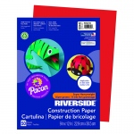 (10 Pk) Riverside 9x12 Holiday Red Construction Paper 50sht Per Pk