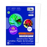 (10 Pk) Riverside 9x12 White Construction Paper 50sht Per Pk