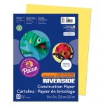 (10 Pk) Riverside 9x12 Yellow Construction Paper 50sht Per Pk