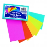 (6 Pk) Super Bright Index Cards 3x5 Unrule