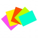 (6 Pk) Super Bright Index Cards 4x6 Unrule