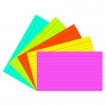 (6 Pk) Super Bright Index Cards 3x5 Ruled