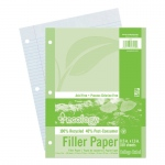 (12 Pk) Ecology Recycled Filler Paper 150sh 9/32in College Ruled