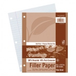 (12 Pk) Ecology Recycled Filler Paper Pk Wide Ruled