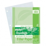 (12 Pk) Ecology Recycled Filler Paper Pk College Ruled
