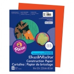 (10 Pk) Construction Paper Orange 9x12