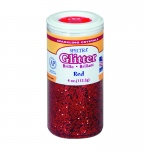 (6 Ea) Glitter 4oz Red