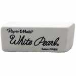 (24 Ea) Papermate Pearl Erasers White